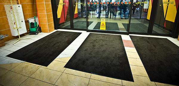 сервис сменных ковров в торговом центре